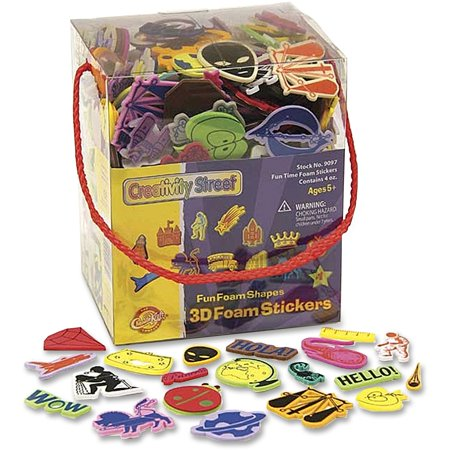 Creativity Street, CKC9097, Fun Foam Shapes 3D Foam Stickers, 1 Each, Assorted