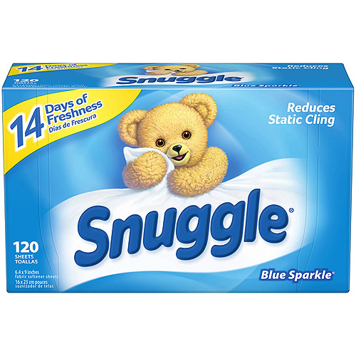 Snuggle Blue Sparkle With Fresh Release Fabric Softener Dryer Sheets, 120 ct