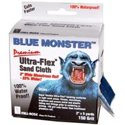 Blue Monster 4000197 5 yards x 2 in. 150 Grit Mill Rose Ultra-Flex Aluminum Oxide Sanding Cloth