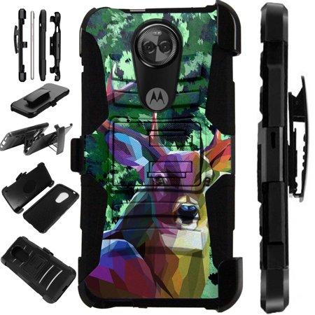 Compatible Motorola Moto G7 Power (2019) | Moto G7 Optimo Maxx Case Armor Hybrid Phone Cover LuxGuard Holster
