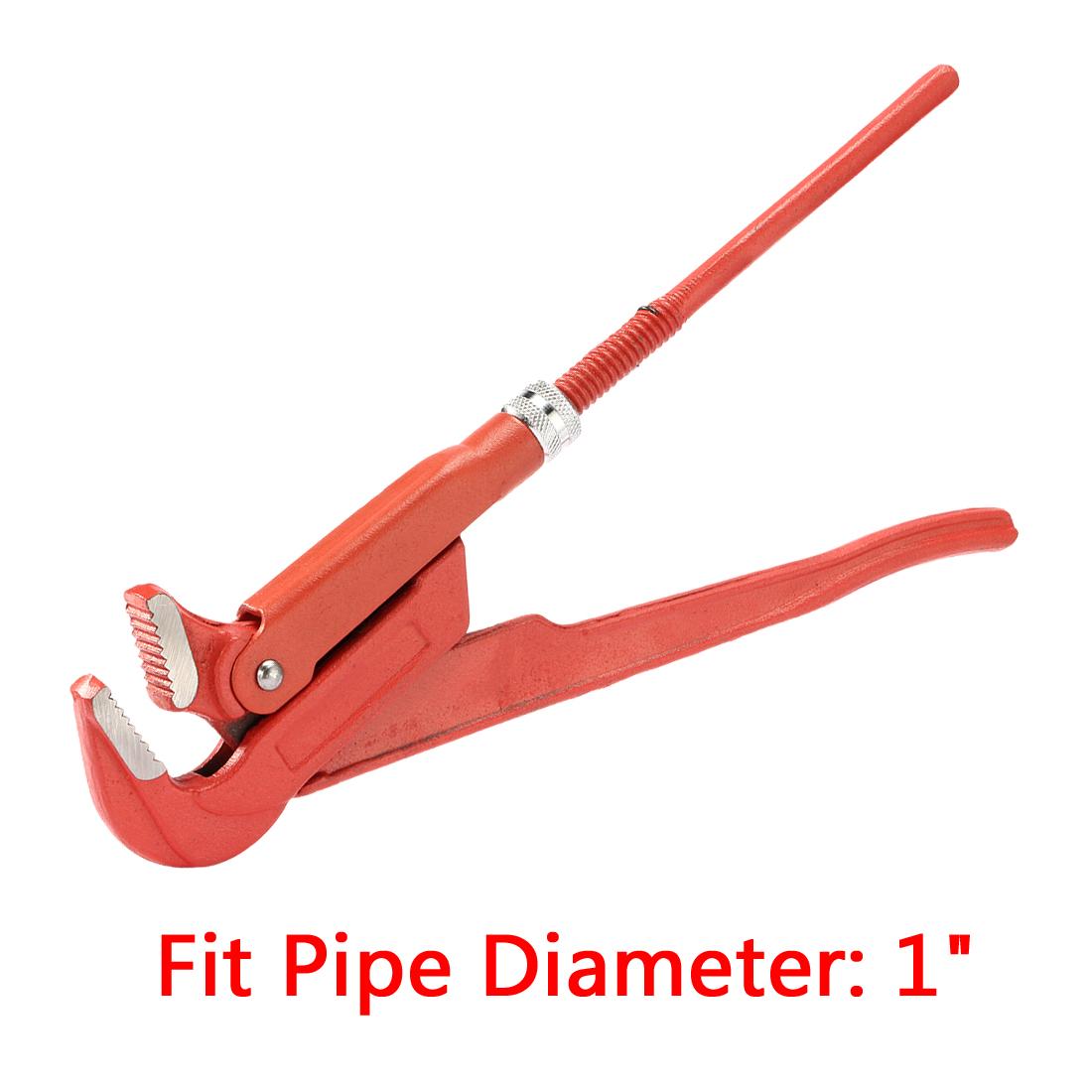 "90-Degree Flat Jaw Swedish Pattern Pipe Wrench 1"""