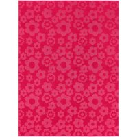 Garland Rug Flowers Bright Pink 5'x7' Novelty Indoor Area Rug