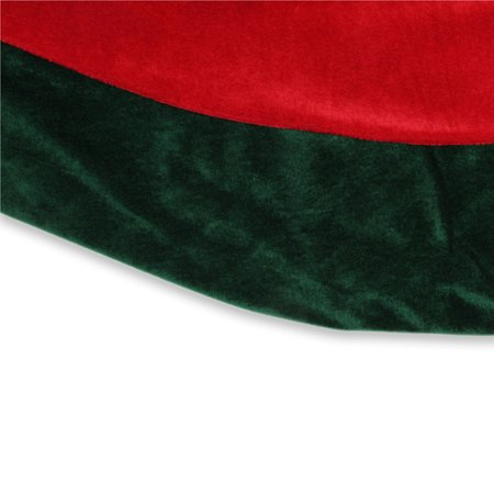60 Red And Green Traditional Christmas Tree Skirt Walmart Canada