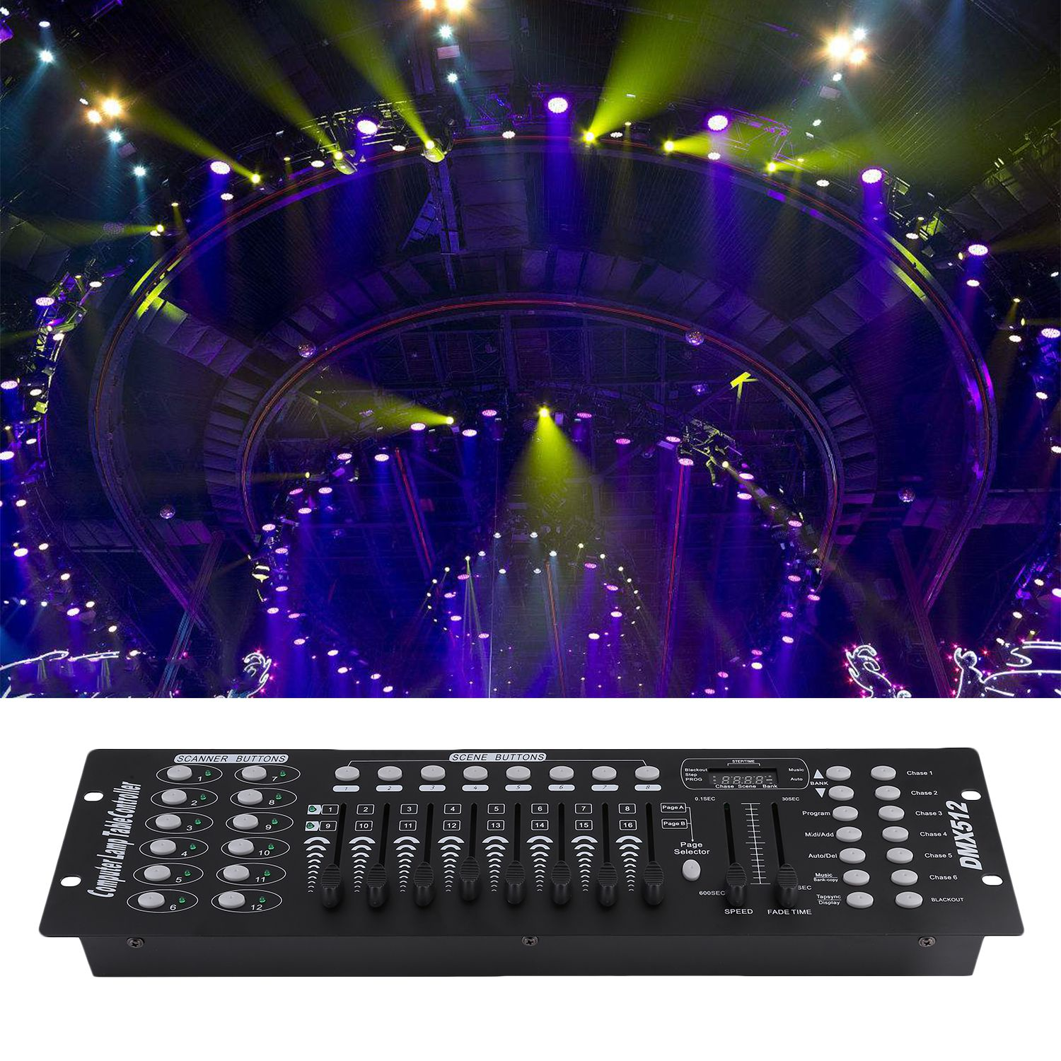 CNMODLE 192 Channels DJ Equipment Console DMX512 Stage Light Controller Console Durable Plastic Party DJ Operating Stage