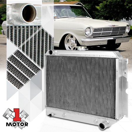 Aluminum 3 Row Tri-Core Performance Cooling Radiator for 62-67 Chevy II I6/V8 63 64 65 66