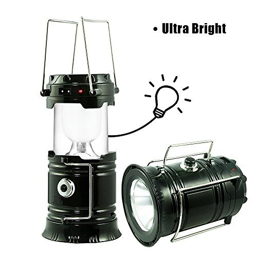 Click here to buy Solar LED Camping Lantern, AUSATON Rechargeable Camping Lamp with Foldaway Handle, Ultra Bright Collapsible Outdoor Flashlight for... by LIVEDITOR LIGHTING.