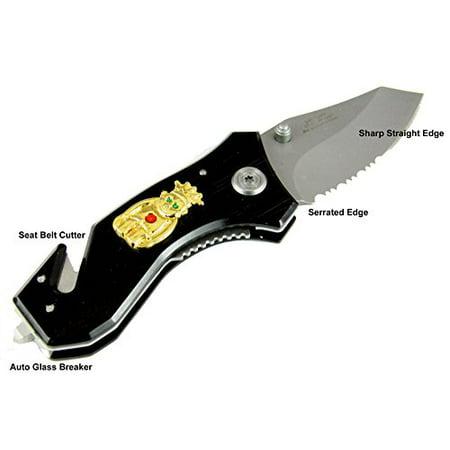 Billiken Emblem Knife Auto Glass Breaker Seat Belt Strap Cutter Royal Order of Jesters