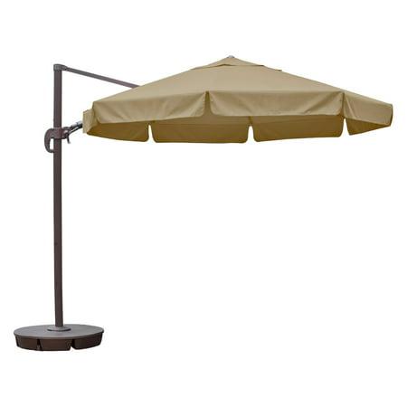 Island Umbrella Freeport 11 ft. Octagonal Cantilever with Valance Patio Umbrella