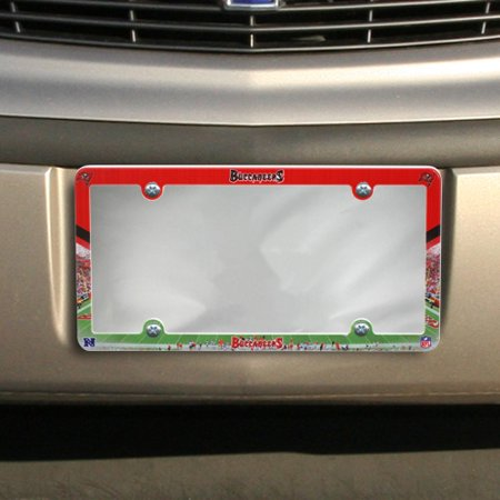 Tampa Bay Buccaneers Full Color Plastic License Plate Frame - No Size - Full Color Plates