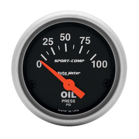 AutoMeter 3327 Sport-Comp Electric Oil Pressure Gauge - image 1 of 1