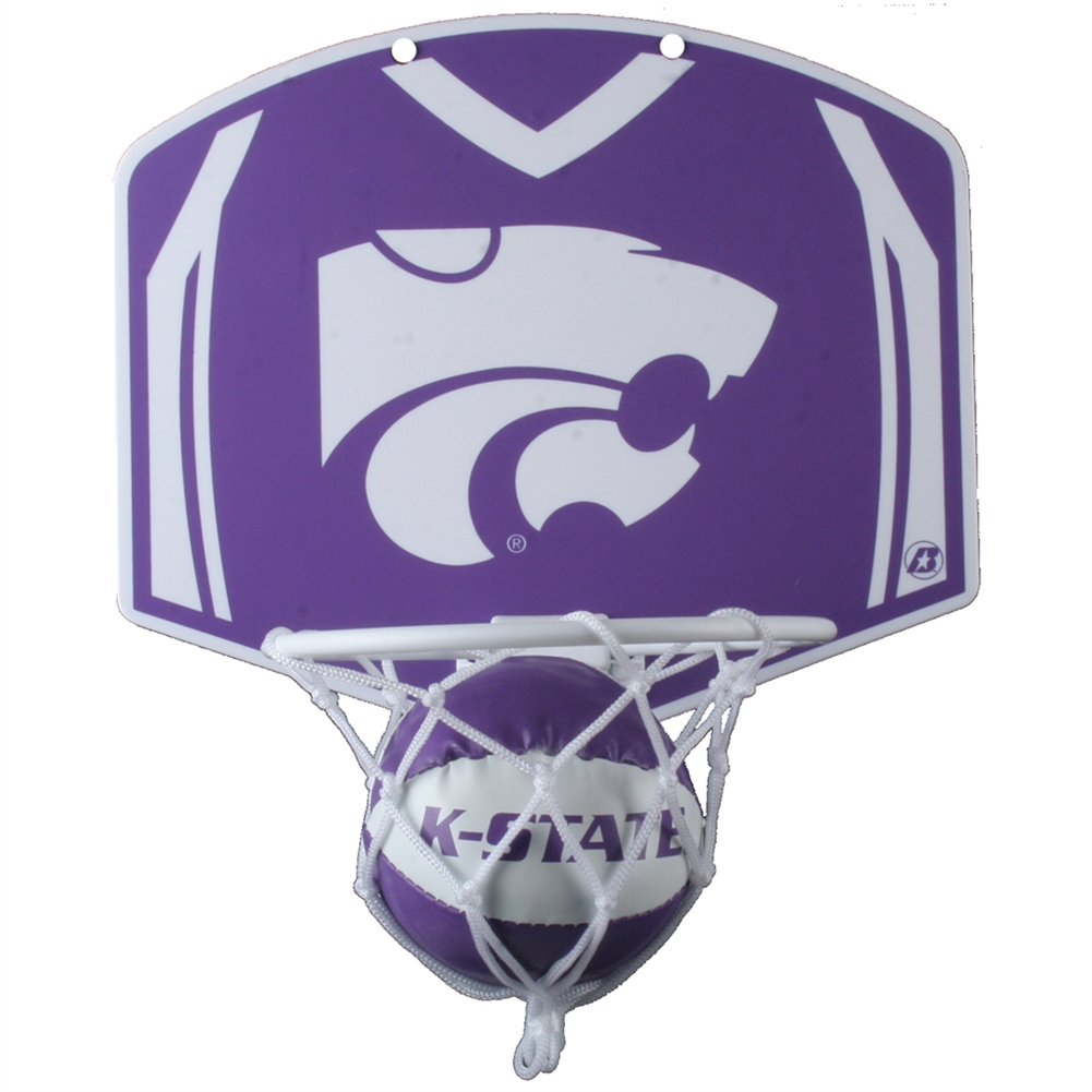 Kansas State Wildcats Mini Basketball And Hoop Set