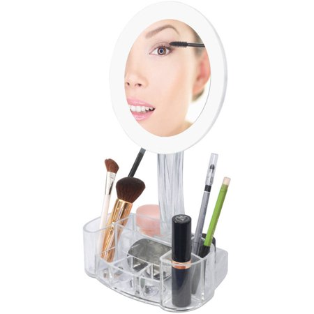 ToiletTree Products 7x LED Magnified Makeup Mirror with Cosmetic Organizer