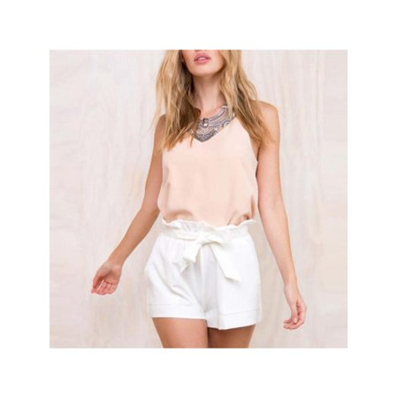 Topumt Women Cozy Ruffle High Waist Casual Shorts Pants (Ruffle Tanga Shorts)