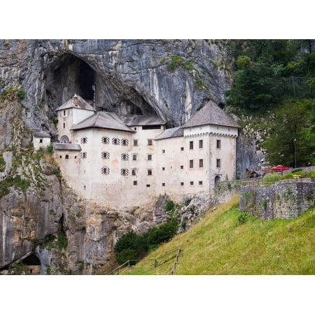 Predjama, Inner Carniola, Slovenia. Predjama Castle, built into the opening of a cave. Print Wall Art ()