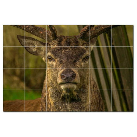 Deer Ceramic Tile Mural Kitchen Backsplash Bathroom Shower 402761 L64