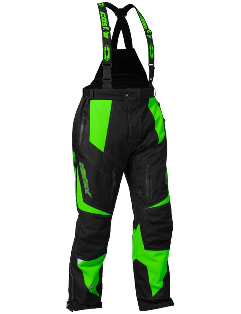 Castle X Fuel G6 Mens Snowmobile Bibs Green by Castle X Racewear
