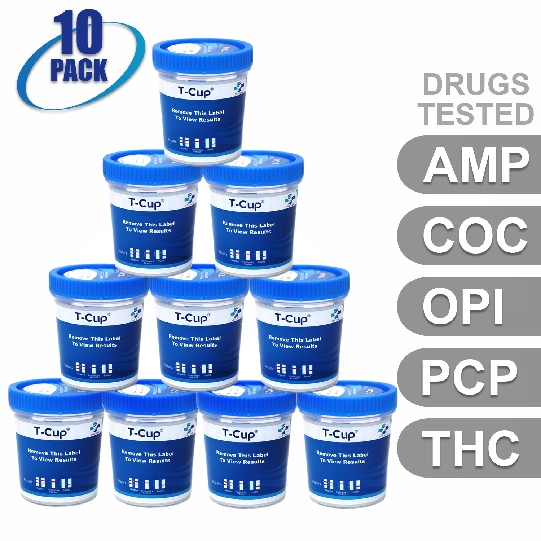 MiCare [10pk] - 5-Panel T-Cup Instant Urine Drug Test (AMP/COC/OPI/PCP/THC) #MI-TDOA-154