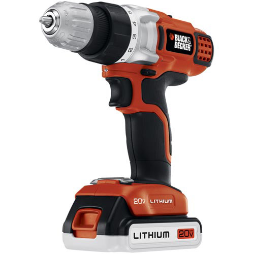 BLACK+DECKER LDX220SBFC 20V MAX Cordless Lithium-Ion 3/8 in. 2-Speed Drill Driver Kit with Fast Charger