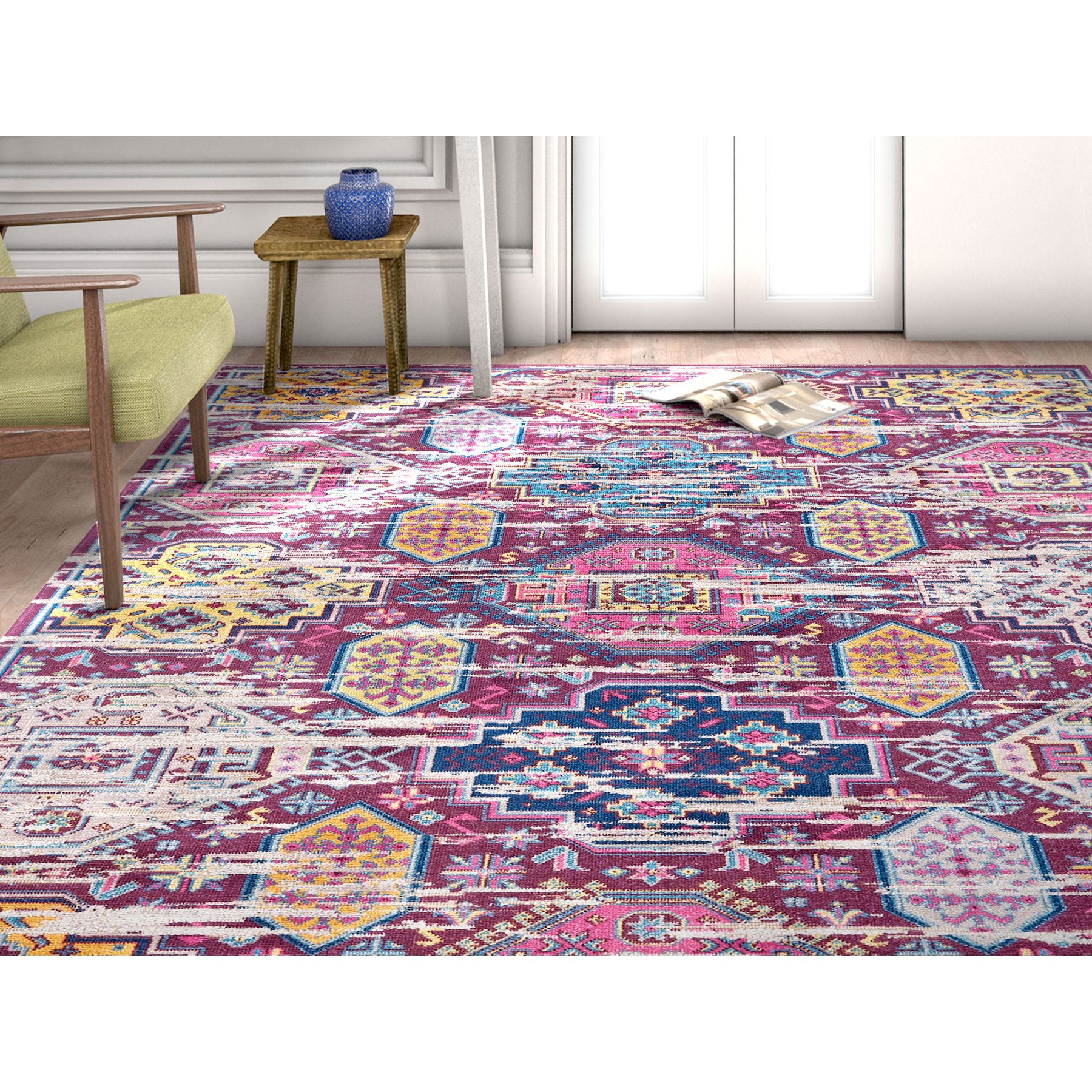 Well Woven Firenze Alora Modern Vintage Passion Area Rug