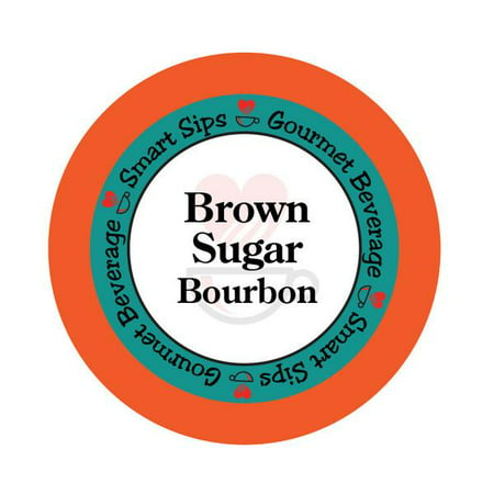 Smart Sips Coffee Brown Sugar Bourbon Flavored Coffee Single Serve Cups, 24 Count, Compatible With All Keurig K-cup Machines