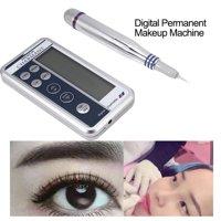 Tebru 2 Types Digital Permanent Makeup Machine Microblading Pen Eyebrow Lip Pen + Cartridge Needles, Digital Permanent Makeup Machine, Eyebrow Tattoo Pen