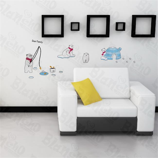 Bear Family - Hemu Large Wall Decals Stickers Appliques Home Decor