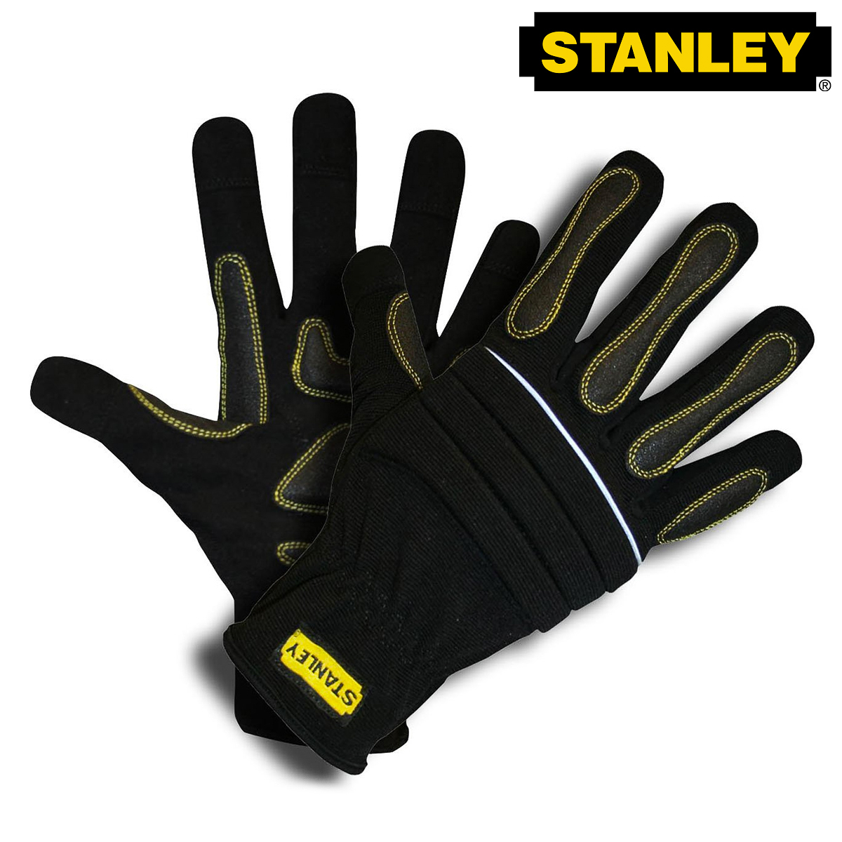 Stanley Prodex High Dexterity Work Gloves Synthetic Leather Contractor Gel Pad