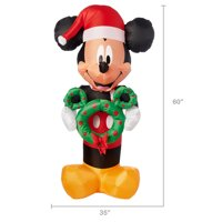 Holiday Time Yard Inflatables Mickey Mouse, 5 ft