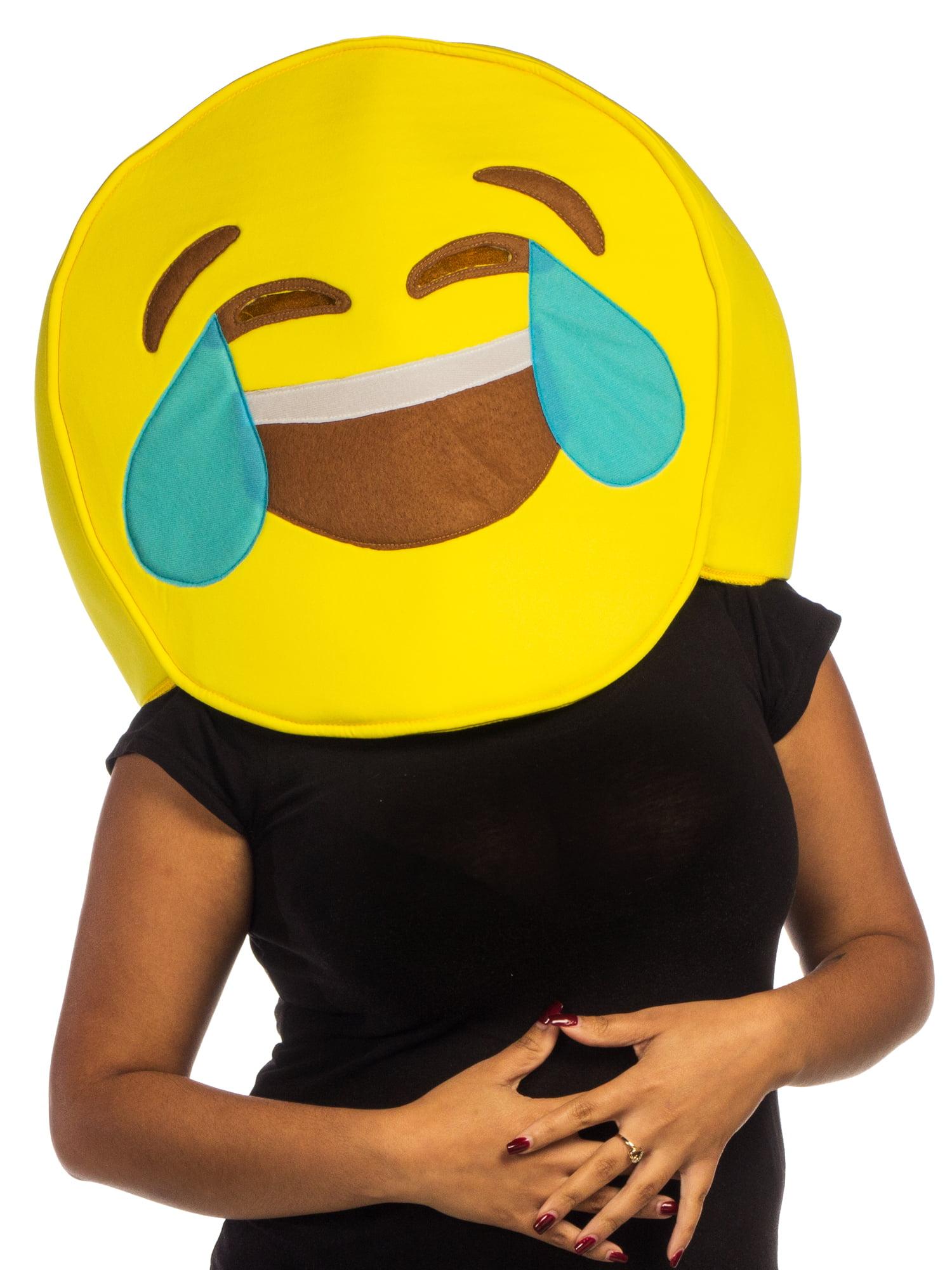 Emoji Cry Laugh Tear Licensed Halloween Costume Mask ...
