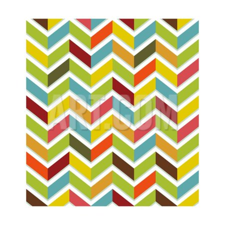 Colorful Chevron Seamless Print Wall Art By Yaviki ()