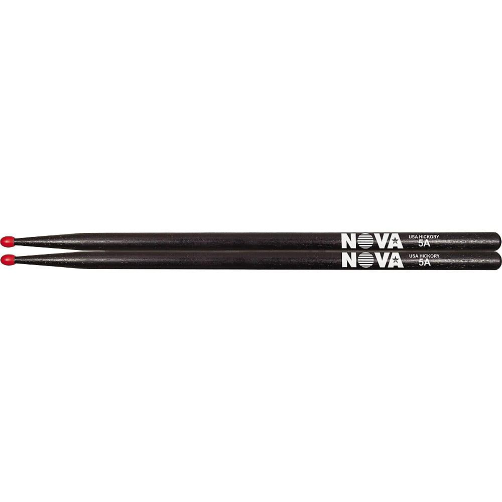 Vic Firth Nova Hickory Drumsticks Black 5AN by Vic Firth