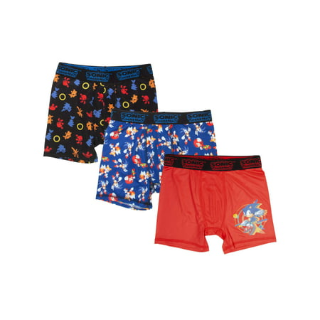 63c35cb90 Sonic the Hedgehog - Boy's Sonic Hedgehog 3-Pack Boxer Brief - Walmart.com