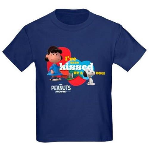 Kissed by a Dog - Peanuts Movie Kids' Dark T-Shirt