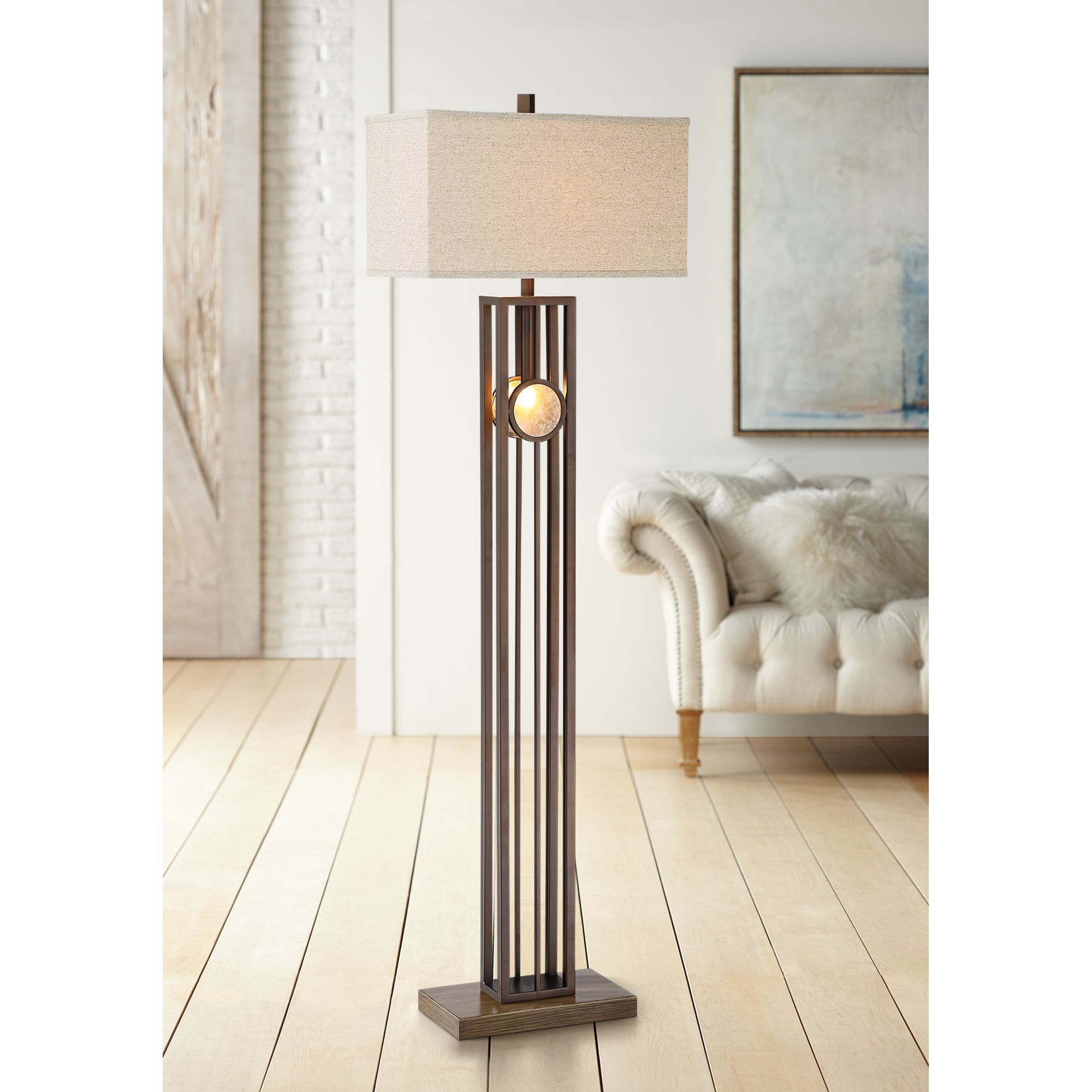 Franklin Iron Works Midland Oil-Rubbed Bronze Floor Lamp With Night Light by Franklin Iron Works