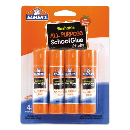 Branded Elmer's Washable All Purpose School Glue Sticks 4/Pack Pack of 2 [Qty Discount / wholesale price] - Discount School