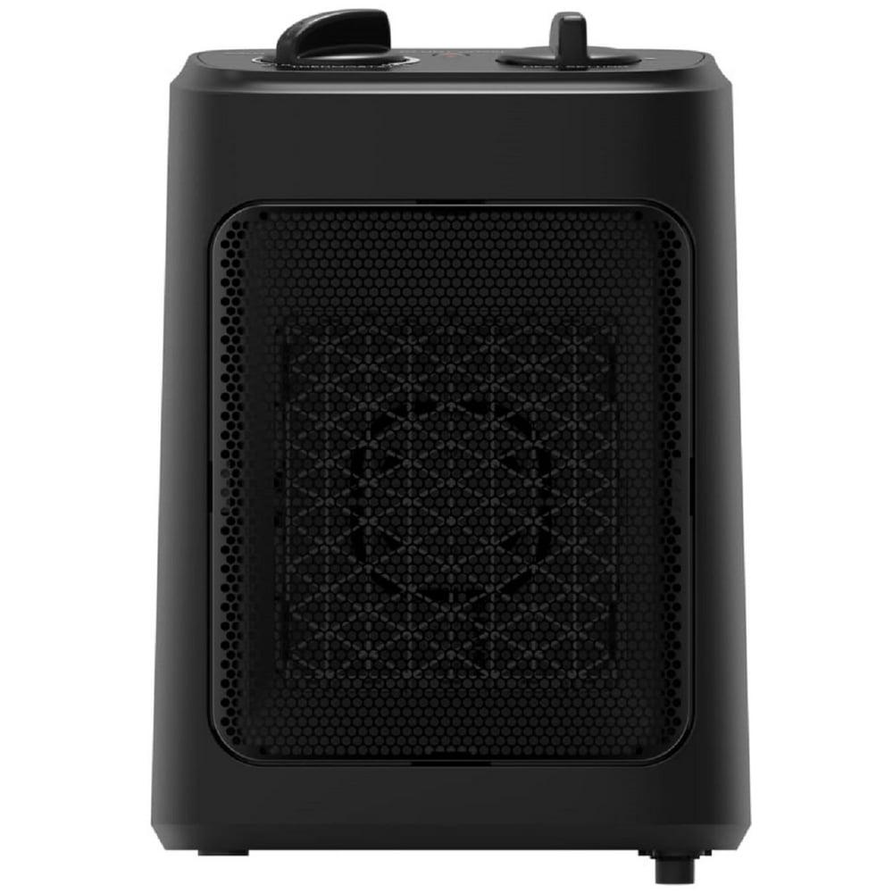 Mainstays 1500W Ceramic Electric Space Heater, WSH10C2ABB, Black