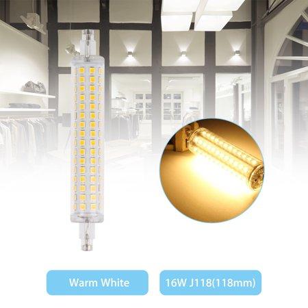 R7s Base General Light Bulb - LED Flood Light R7S 118mm Bulb 16W 2835 SMD Replacement Halogen Lamps Warm White/White Light