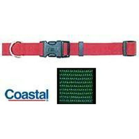Tuff Collar Nylon Adjustable Collar - Hunter Green 14-20 Long x 5/8 -