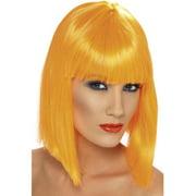 Short Orange Glam Blunt Costume Wig One Size
