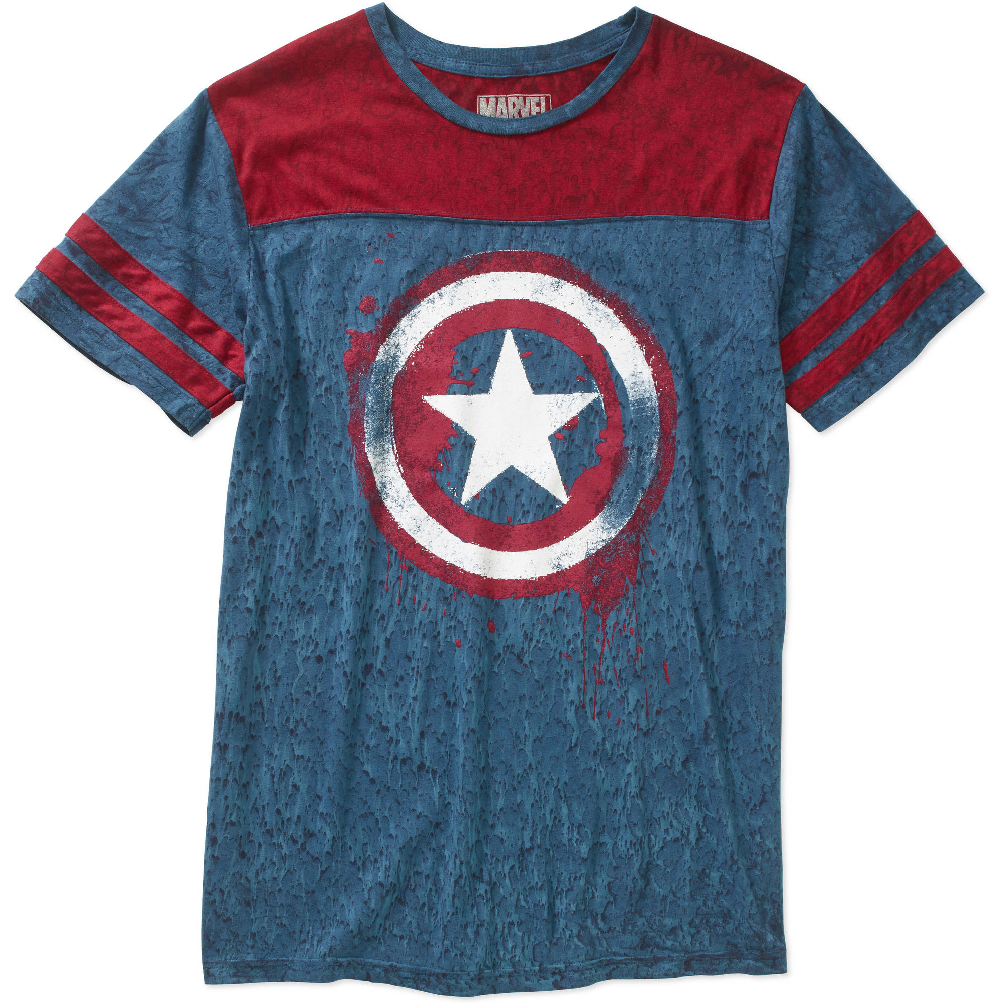 Marvel Captain America Men's Graphic Football Tee
