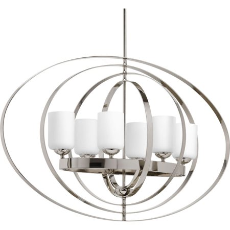 Equinox Collection Six-Light Extra Large Oval Foyer Pendant