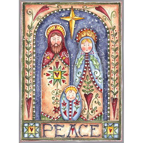 The Holiday Aisle 'Peace Nativity' Print