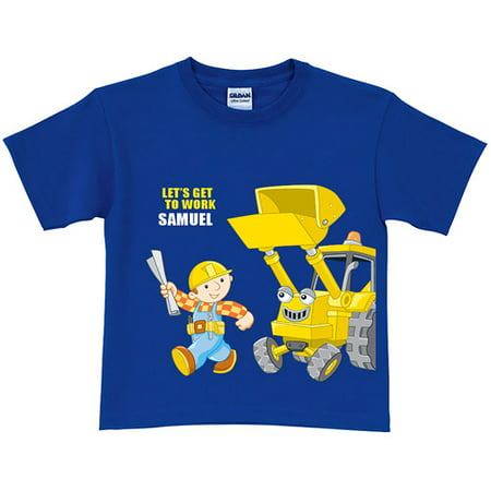 Personalized Bob the Builder Get to Work Scoop Royal Toddler Blue T-Shirt](Purple Bob)