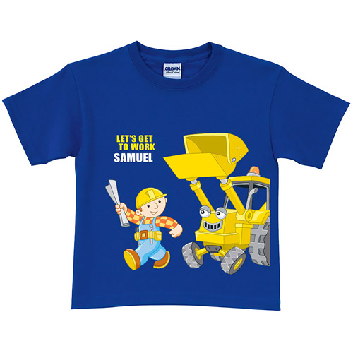 Personalized Bob the Builder Get to Work Scoop Royal Toddler Blue T-Shirt