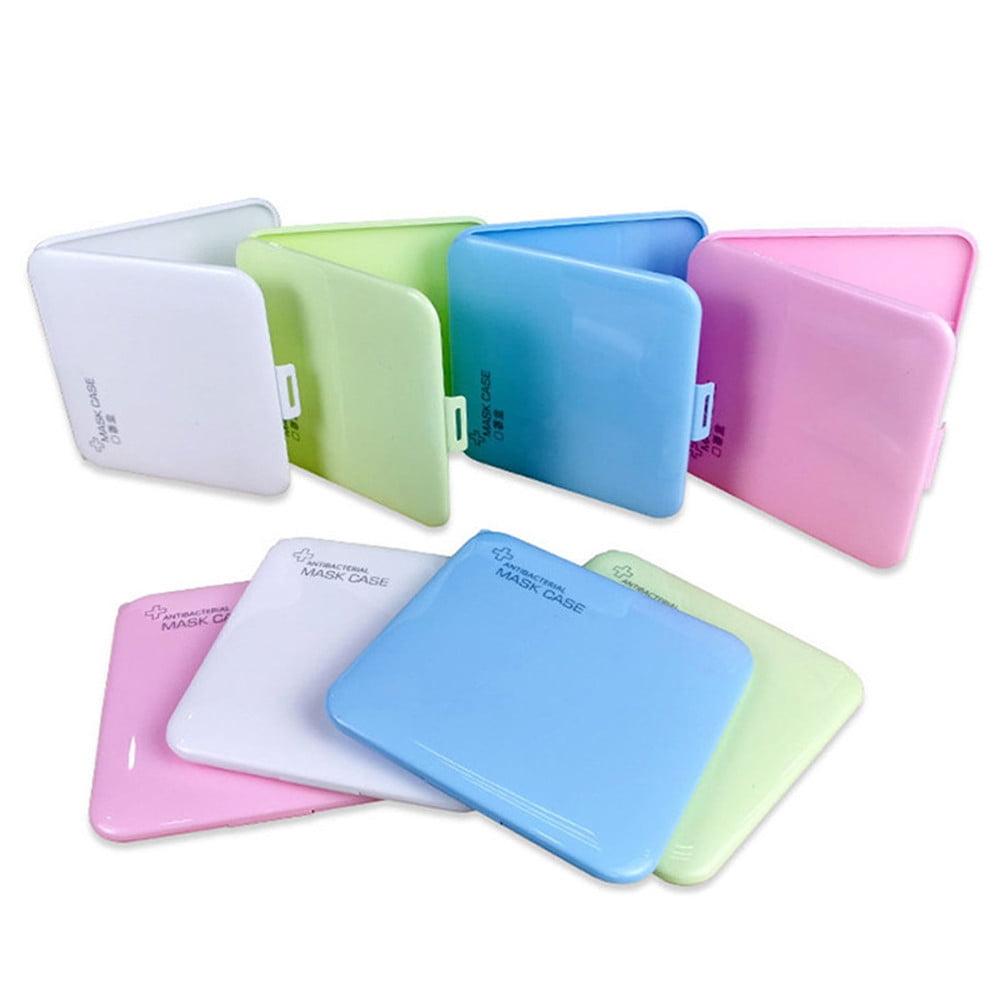 Portable Mask Holder for Face Masks Plastic Face Cover Storage Box Safe /& Light Dustproof 2Pcs Pink Mask Storage Case