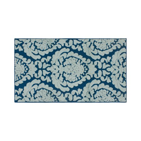 Dominique 1 Light (Jean Pierre Dominique 30 x 50 in. Loop Accent Rug, Peacock Blue/Mineral)