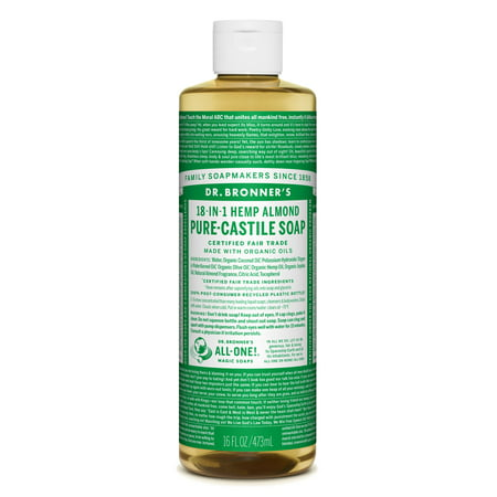 Dr  Bronner's Almond Pure-Castile Liquid Soap - 16 oz