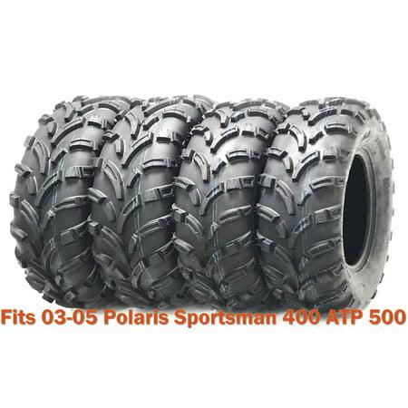 Set 4 WANDA ATV tires 25x8-12 & 25x11-12 fr 03-05 Polaris Sportsman 400 ATP 500