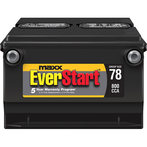 Everstart Maxx Lead Acid Automotive Battery Group 78n