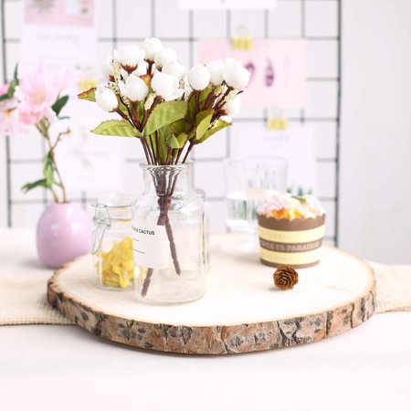 Wood Centerpiece (Efavormart Rustic Natural Wood Slices Round Poplar Wooden Slab Table)